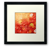 Blurry hearts background 2 Framed Print