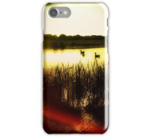 Geese on Pond iPhone Case/Skin