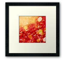 Blurry hearts background 3 Framed Print