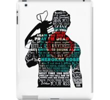 TWD Daryl Quotes iPad Case/Skin