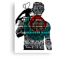 TWD Daryl Quotes Canvas Print