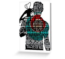 TWD Daryl Quotes Greeting Card