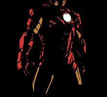 Ironman Super Hero Black Background  by peetamark