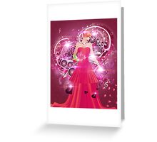 Lady in red dress Greeting Card