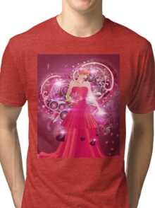 Lady in red dress Tri-blend T-Shirt
