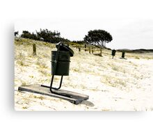 Beach Garbage Canvas Print