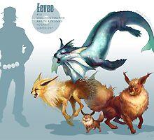 Eevee Trio by RJ Palmer