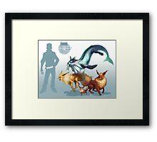 Eevee Trio Framed Print