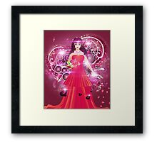 Lady in red dress 2 Framed Print