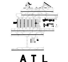 Atlanta Hartsfield Airport Diagram by vidicious