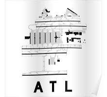 Atlanta Hartsfield Airport Diagram Poster
