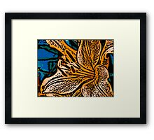Show Off - Woodcut Framed Print