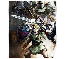 Link Fighting - the Legend of Zelda Poster