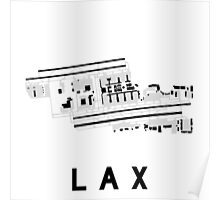 Los Angeles Airport Diagram Poster