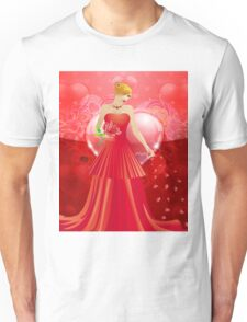 Lady in red dress 4 Unisex T-Shirt