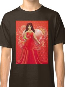 Lady in red dress 5 Classic T-Shirt