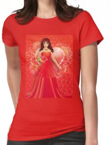 Lady in red dress 5 Womens Fitted T-Shirt