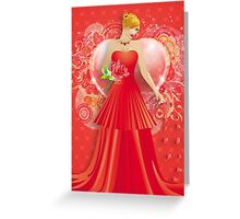 Lady in red dress 6 Greeting Card