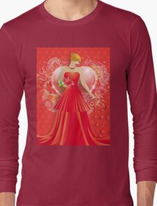 Lady in red dress 6 Long Sleeve T-Shirt