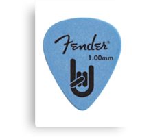 Fender Pick Canvas Print