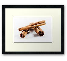 Cinnamon Sticks Framed Print