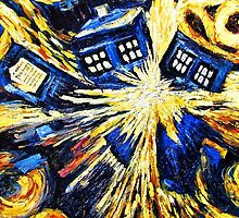 Tardis by Van Gogh - Doctor Who by peetamark