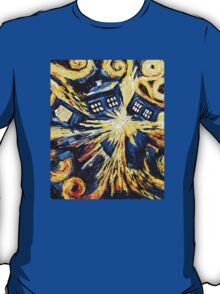 Tardis by Van Gogh - Doctor Who T-Shirt