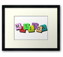 Matilda the Musical {tile logo} Framed Print
