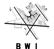 Baltimore Airport Diagram by vidicious