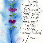 Inspirational faith verse pink daisy art design by Melissa Goza
