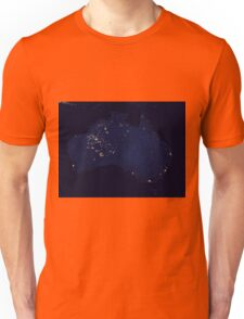 Austrailia At Night - As Seen From Space Unisex T-Shirt