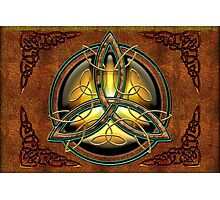 Celtic Triquetra Photographic Print