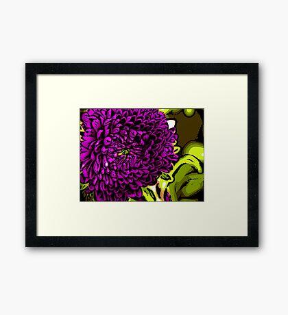 Shy - Woodcut Framed Print