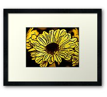 Sun Worshiper - Woodcut Framed Print