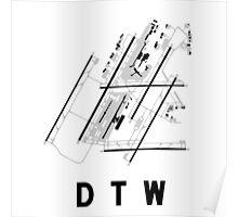 Detroit Airport Diagram Poster