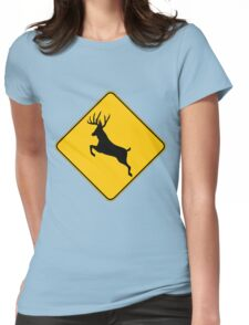 Trophy Buck crossing  Womens Fitted T-Shirt