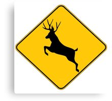 Trophy Buck crossing  Canvas Print