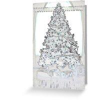 christmas 1 -blank + shirts, tote bag ect Greeting Card