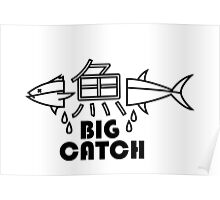 Minimal Fish Black Poster