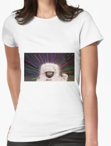 Sloth in outerspace Womens Fitted T-Shirt