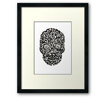 Black Skull Framed Print