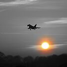 Typhoon Sunset B/W by PhilEAF92