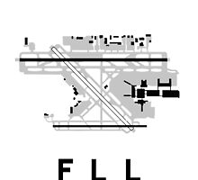 Fort Lauderdale Airport Diagram by vidicious
