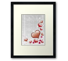 Pink heart and floral 7 Framed Print
