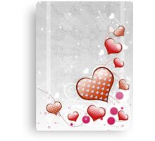 Pink heart and floral 7 Canvas Print