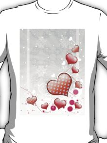 Pink heart and floral 7 T-Shirt
