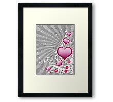 Pink heart and floral 8 Framed Print