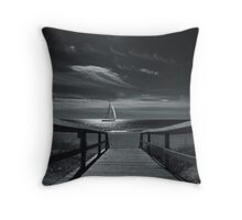 Moonlight Sail Throw Pillow