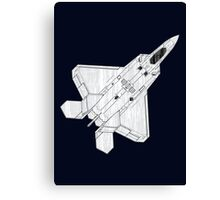 F 22 Stealth Fighter Jet Canvas Print