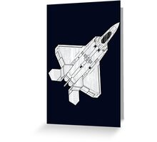 F 22 Stealth Fighter Jet Greeting Card